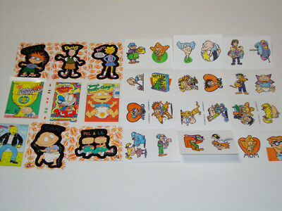 Vintage 90S Nickelodeon Trading Cards Stickers Lot Nicktoons Retro Rugrats Doug