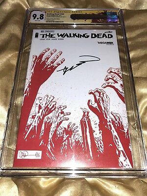 The Walking Dead Issue 163 Comic Cgc 9.8 Ss Signed Kirkman Megabox Variant