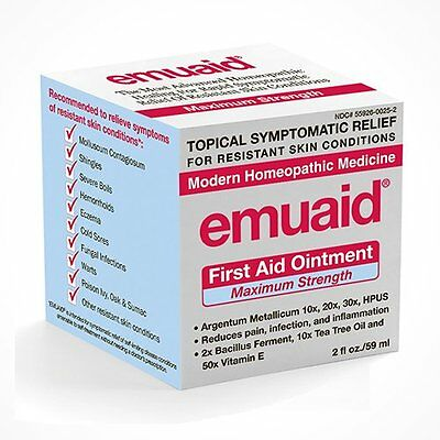 Emuaid MAX Homeopathic First Aid Ointment for Irritated Skin 2oz Exp 6.2019
