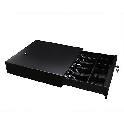 Cash Register Drawer Box POS with Money Tray Coin Push Button - USA Stock CASH REGISTER DRAWER