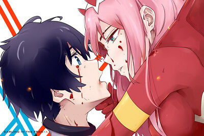"Darling in the Franxx 02 Anime 24/"" x 16/"" Large Wall Poster Art Print Popular HOT"