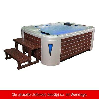Whirlpool außen IN595 EXTREME White Pearlscent braun SPA Wellnes Outdoor