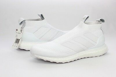 huge selection of 17009 fadf0 Adidas A16 + UltraBOOST White Soccer Running Shoes Mens Size 9.5 NIB AC7750