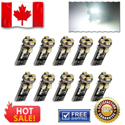 10x Super Bright White T10 8SMD LED Interior Dome Map License Plate Lights Bulbs