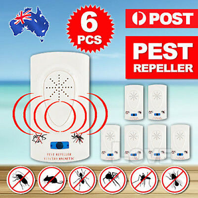 6x Electronic Ultrasonic Anti Pest Cockroach Bug Mosquito Mouse Killer Repeller