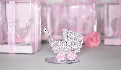 12 Baby Shower Party Favors Crystal Carriage Pink Recuerdos Cariola