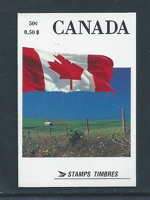 Canada Booklet 1990 Flag #BK111 Perf 13 1/2 x 14 MNH