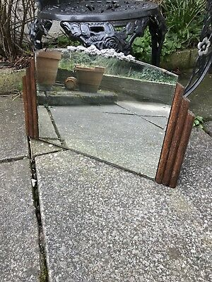 Frameless Mirror Art Deco mirror With Crest At Top Frameless Mirror Deco Mirror