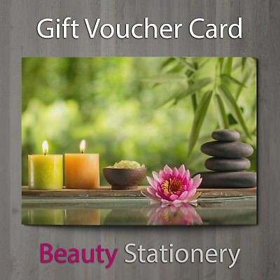 Gift Voucher Beauty Salon Blank Card Massage Nail Spa Hairdressing A7 + Envelope