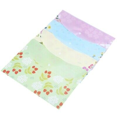 4pcs A4 papers paper bag small floral folder L2P7