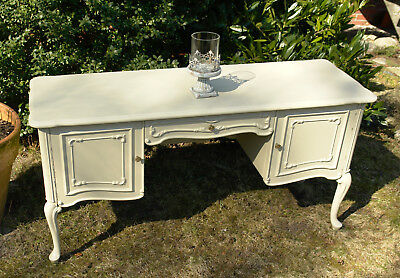 Chippendale Kommode Anrichte Sideboard altweiss creme  shabby chic