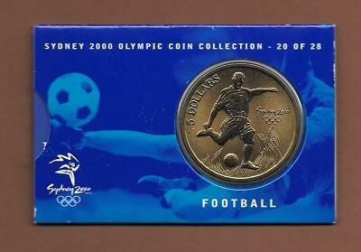 Football  - Sydney 2000 Olympic Coin Collection 5 Dollars Australia 20 of 28