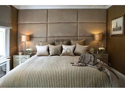Quality Deluxe Crushed Velvet Headboard Upholstered Wall Board Padded Wall Panel