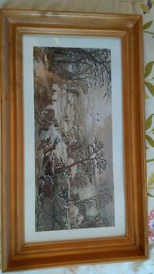 "Handmade Tapestry Gobelin/Goblen Wood Framed ""Winter Landscape"""