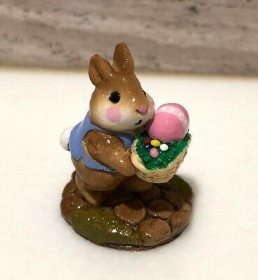 Wee Forest Folk Tiny Easter Bunny Mouse B-12 Rare Retired 1985-1992