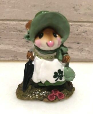 Wee Forest Folk Lady Mousebatten St. Patrick's Day Retired Rare 1993-2003 M195b
