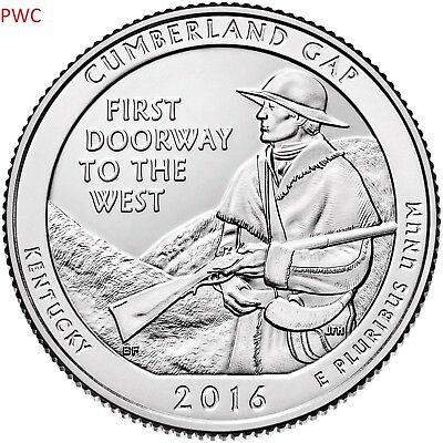 2016 Pds Cumberland Gap National Park (Nd) Three Quarters Set Uncirculated
