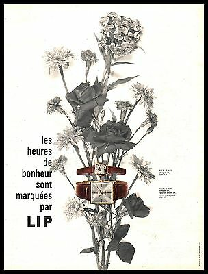 Publicité Montre LIP montres  Watch photo vintage print ad  1962 -1j