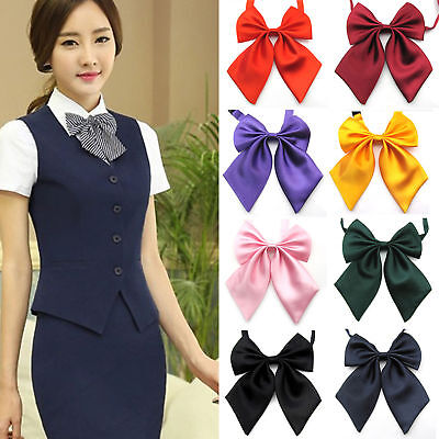Fashion Unique Womens Ladies Girls Satin Novelty BIG Bow Tie Wedding Gift YH