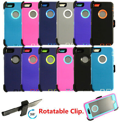 For Apple iPhone 6S Defender Case Cover with Belt Holster Clip fits Otterbox