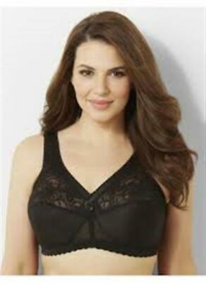 5cb081df6a88c NEW Glamorise 44B Magic Lift Full Figure Support Bra 1000 Black  44966