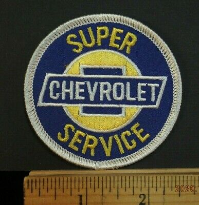 """Chevrolet Super Service Embroidered Iron-on Patch 3"""" Round"""