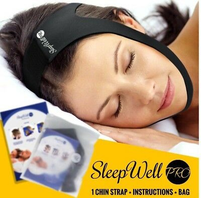 SleepWell Pro Adjustable Stop Snoring Chin Strap Advanced Snoring Aid Sleep Well