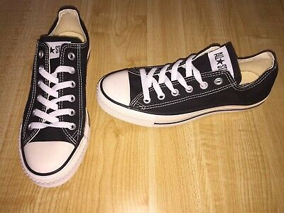 NEW CONVERSE ALL Star Ox Women's 8 Men's 6 Black Off White