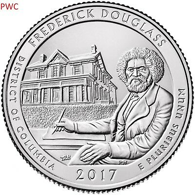2017 Pds Fredrick Douglass National Park (Nd) Three Quarters Set Uncirculated