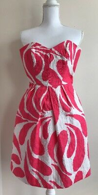 66221e07be AN ORIGINAL MILLY Of New York Dress Size 0 White Pink Pockets ...