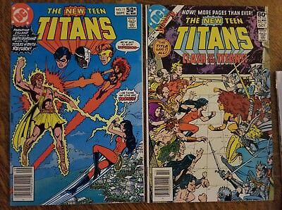 New Teen Titans (1980) #11, 12 - Fine - lot of two