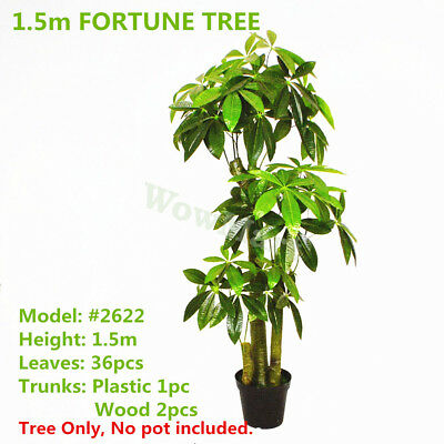 Indoor Outdoor Decorative Artificial Fortune Tree Topiary 1.5m Plant #2622