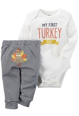 a0cd23a489cb Carter'S My First Turkey Day Thanksgiving Outfit Baby Boy Clothes Nwt  Newborn