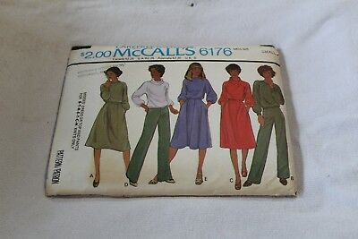 McCalls Pattern 6176 Uncut Miss Dress Top Pant Small 10 12 Sewing 1976