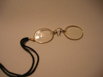 Antique vintage rolled gold pince-nez spectacles steam punk