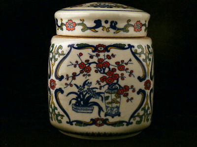 Chinese Qing Dy Famille Rose Porcelain Square Tea Caddy