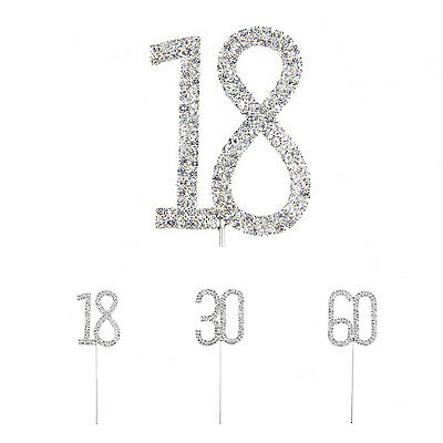 Bling Diamond Double number Torte Cake Decor for Birthday Anniversary BEB
