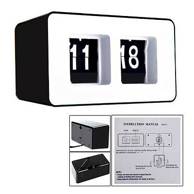 Retro Auto Flip Clock ClaBTic StyliBT Modern Desk Wall Clock