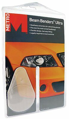 Metro Ultra Beam Benders Universal Car Headlamp Beam Deflectors For Euro Driving