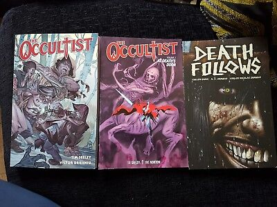 Death Follows The Occultist 1 2 Volume lot collection Horror Graphic novel COMIC