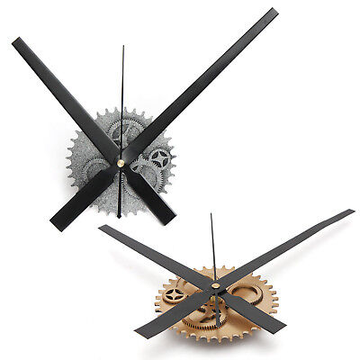 Vintage DIY Mechanism Large Wall Clock Home Living Room Decoration Art Desi@L2Q1