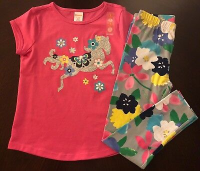 NWT Gymboree Outlet Girl Mix'n'Match Horse Tee /Leggings Girl Outfit 6 7 8 10 12