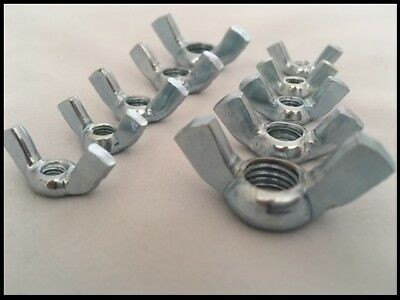 Wing Nuts Steel Zinc Plated DIN 315 For Metric Bolts & Screws M4, M5, M6, M8,M10