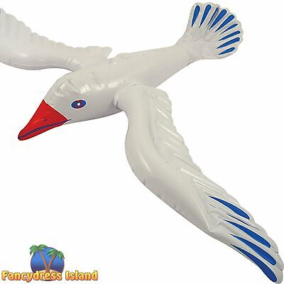 INFLATABLE BEACH PARTY PROP SEAGULL - 76cm - fancy dress costume accessory