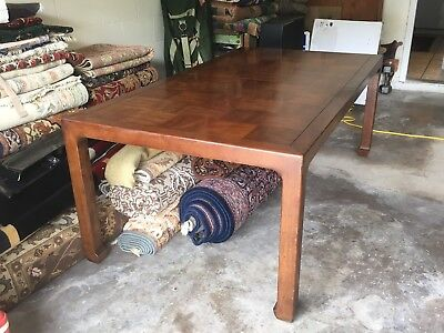 Vintage Henredon Solid Wood Dining Room Table 10 Person 2