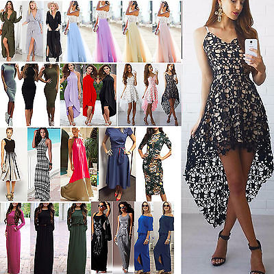 Women Fashion Evening Party Prom Maxi Dress Holiday Wedding Ball Summer Skirt
