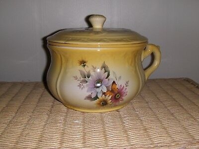Vintage Soup Tereen Made In The Style Of A Chamber Pot Ceramic Hand Crafted 1978