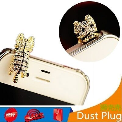 Cute Diamond Cat Audio 3.5mm Headphone Jack Anti Dust Plug Mobile Phone