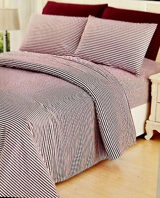 Bed Sheet Full Size Cotton 6 Piece Extra Soft Wrinkle Free Deep Pocket Hotel