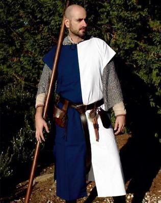 MEDIEVAL KNIGHT FANTASY Bi-Colored Men SQUIRE TABARD TUNIC Costume LARP OS New